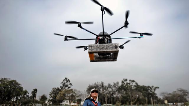 Drone botste bijna met vliegtuig boven Engeland