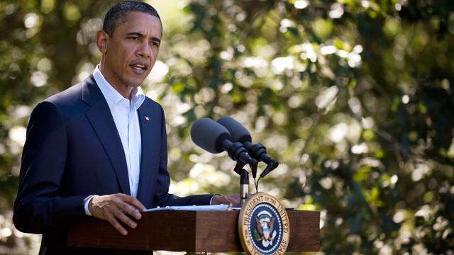 Obama belooft getroffenen Irene steun