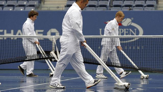 Programma US Open dag uitgesteld door zware regenbuien