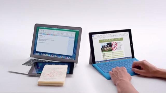 Microsoft opent aanval op Macbook Air met Surface Pro 3-reclames