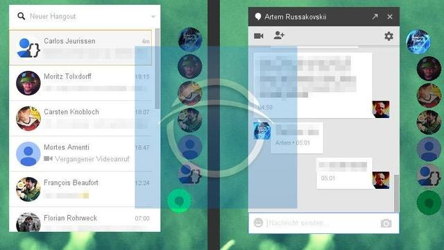 Google test nieuw design voor web-app Hangouts