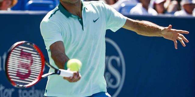Overwerk voor Federer in eerste partij in Cincinnati