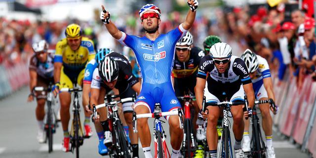 Ritzege Bouhanni, harde val Stybar in Eneco Tour