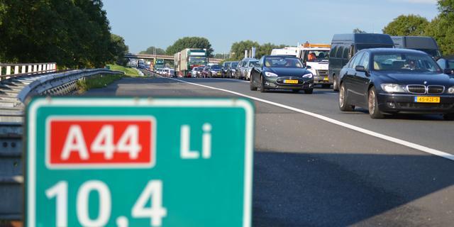 Definitieve rijbaan A44 richting Amsterdam in gebruik