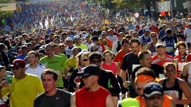 Vrouw wint per ongeluk marathon