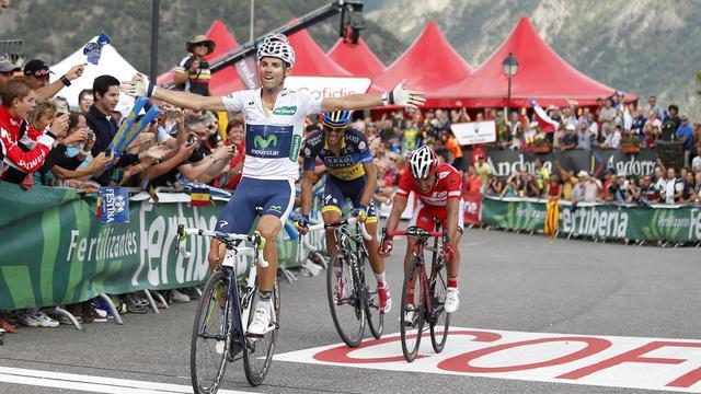 Valverde pakt tweede ritzege in Ronde van Spanje