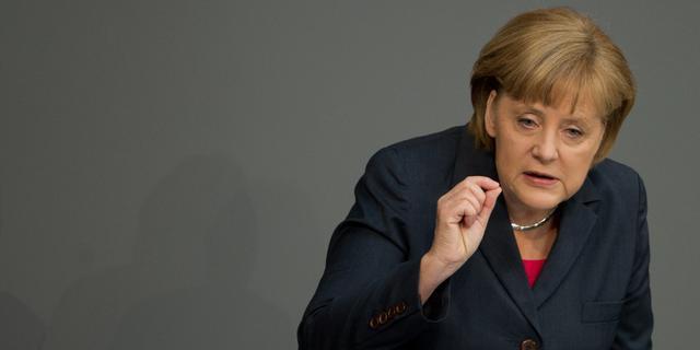 'Merkel wil nieuw verdrag voor Europa'