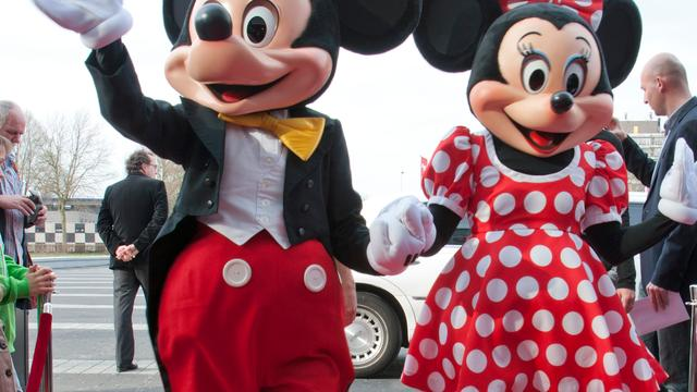 Minnie Mouse gezicht van Londen Fashion Week