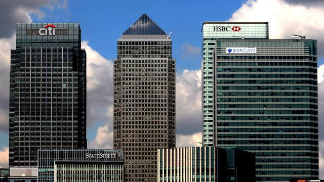 Minste banen bij Britse banken sinds 2004