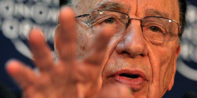 'Mediamagnaat Rupert Murdoch treedt binnenkort af als ceo 21st Century Fox'