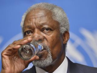 Kofi Annan stopt omdat conflict uit de hand liep