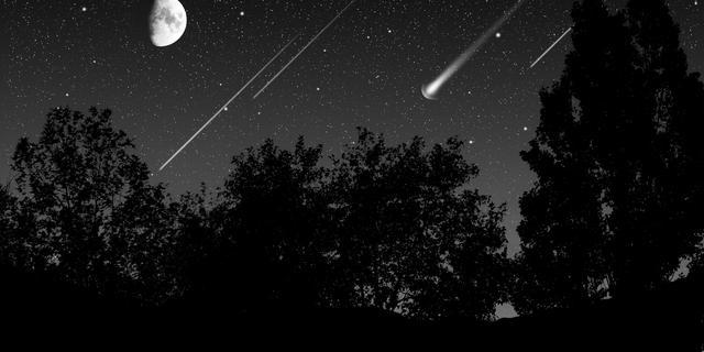 Komende nachten veel vallende sterren