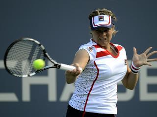 De 29-jarige Belgische wordt al in de tweede ronde van de US Open, haar laatste grote toernooi, uitgeschakeld.