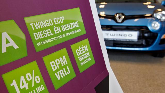 Autoverkoop bijna 10 procent gedaald in 2012