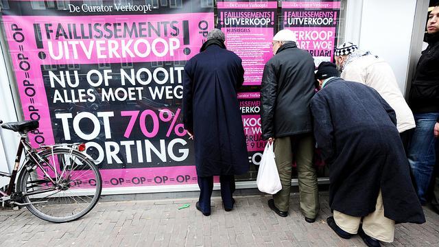 Minder faillissementen verwacht in 2013