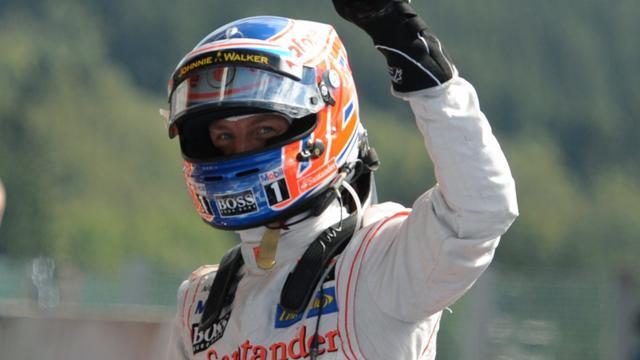 Button verovert pole position op Spa