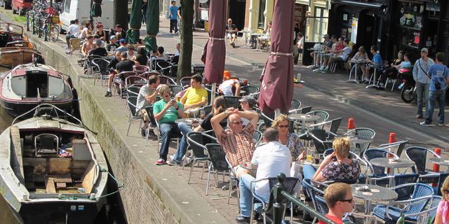Rondje op terras Amsterdam is het duurst