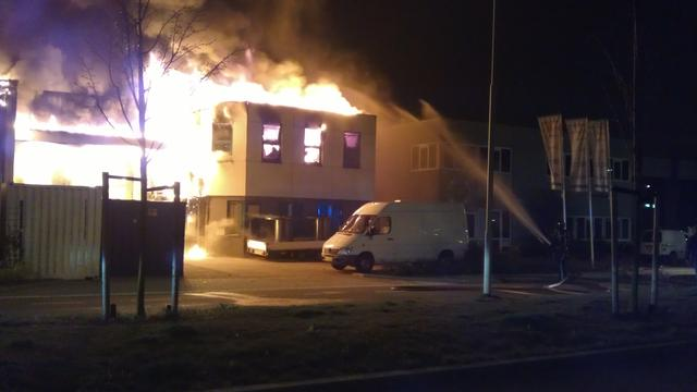 Grote brand in pand Vodafone