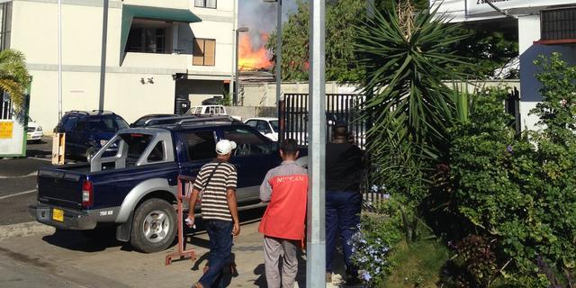Grote brand in centrum Paramaribo