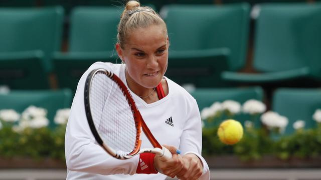 Rus in actie op openingsdag Wimbledon