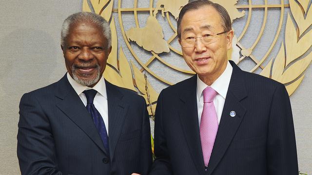 Bespreking vredesplan Annan in Syrië