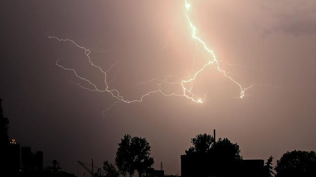 Grote stroomstoring Nieuwegein door bliksem