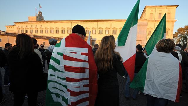 Italianen betogen voor meer banen