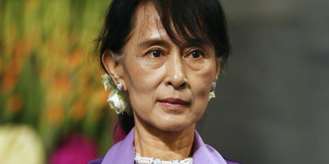 Suu Kyi neemt Nobelprijs in ontvangst