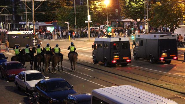 Celstraffen voor relschoppers Den Haag