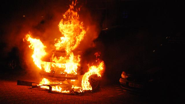 Autobranden op camping in Biddinghuizen