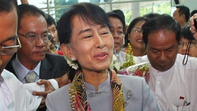 Suu Kyi na 24 jaar terug in Europa