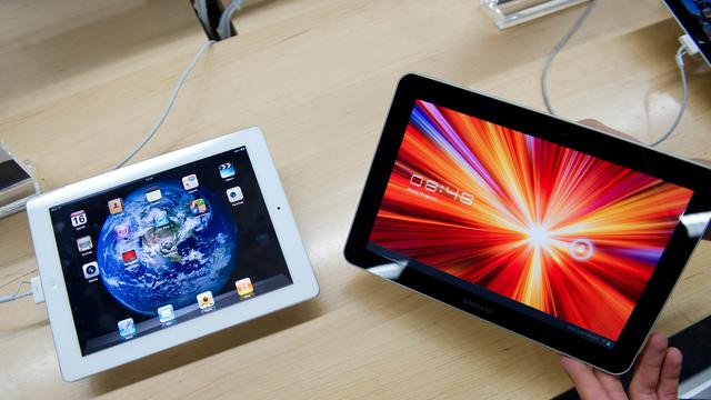 Android-tablets lopen verder in op iPad