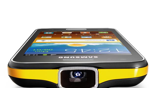 Samsung brengt smartphone met projector uit