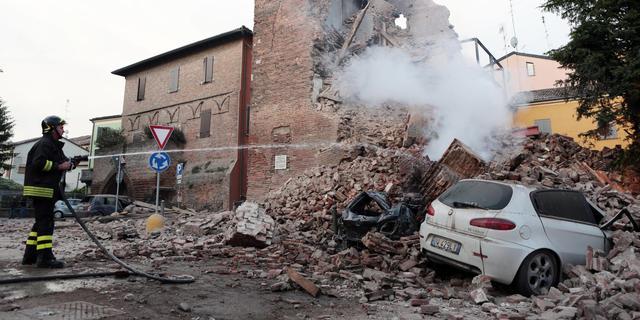 Minuut stilte voor slachtoffers aardbeving Italië