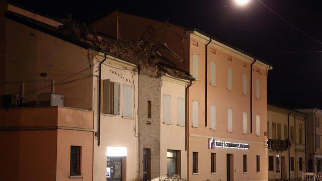 Aardschok in Noord-Italië