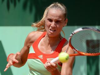 De Nederlandse is in de derde ronde te sterk voor Julia Görges (7-6, 2-6, 6-2) en stuit nu op Kaia Kanepi.