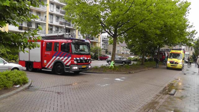 Brand in flatgebouw Hilversum na ontploffing