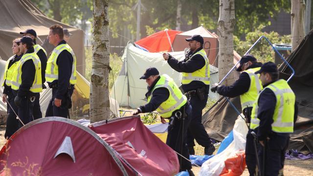 Ontruiming tentenkamp was 'disproportioneel'
