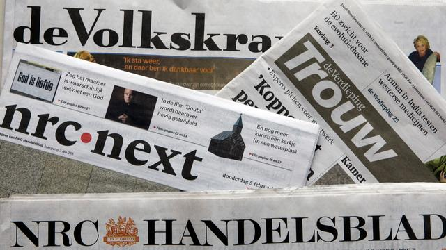 Betaalde oplage grootste kranten blijft dalen