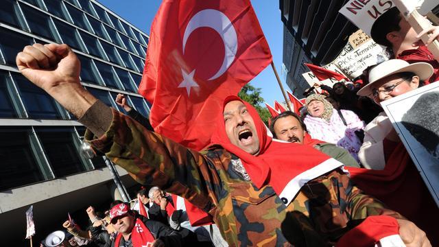 Protest tegen verbod diensten in Hagia Sophia Istanbul