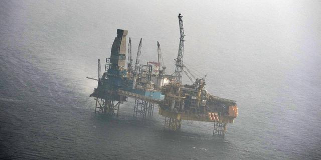 Gasvlam boorplatform Noordzee is uit