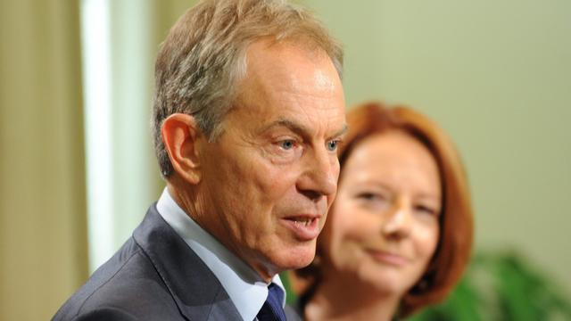 Blair durfde strijd met pers niet aan
