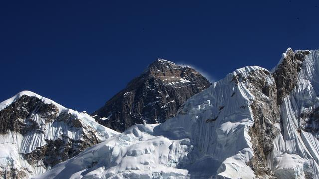 Beroemde Hillary Step van Mount Everest ingestort