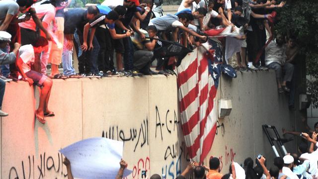 Opnieuw demonstratie bij ambassade VS in Caïro