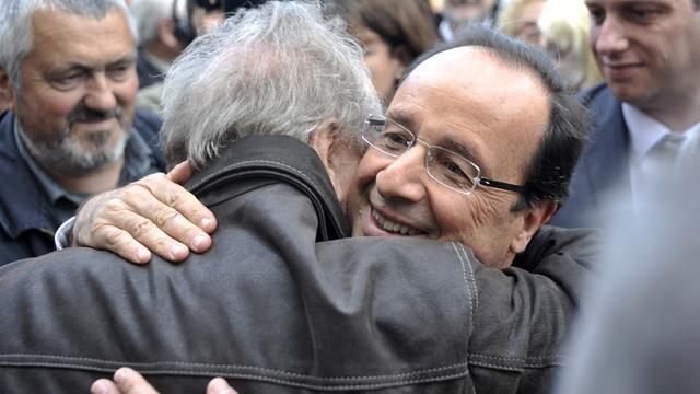 Veel steun voor Hollande in Nederland