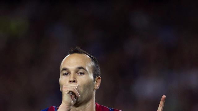 FC Barcelona twee weken zonder Iniesta
