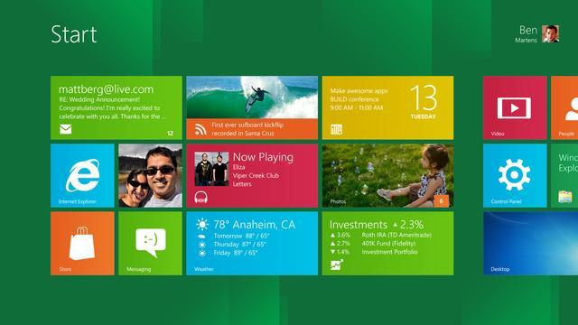 Bedrijven niet in rij voor Windows 8