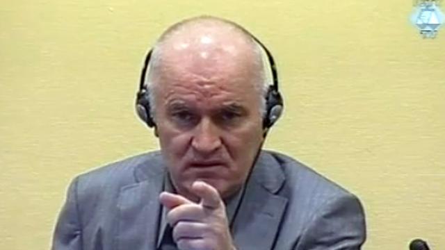 Mladic tegen opsplitsing proces