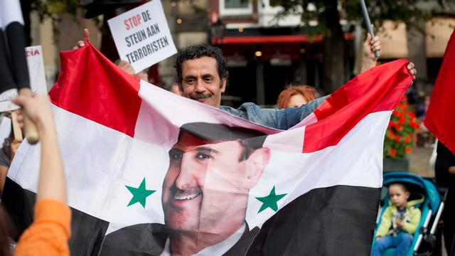 Pro-Assad demonstratie in Den Haag