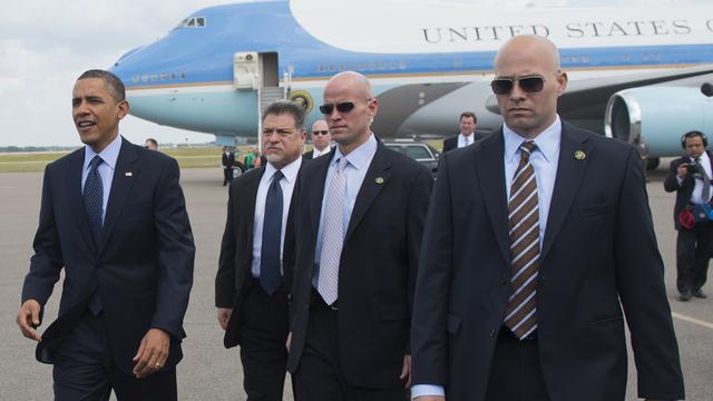 Beveiligers Obama geschorst om dronkenschap Amsterdam